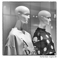 A Pair Stare (NoJuan) Tags: mannequin storedisplay storedummy microfourthirds micro43 mirrorless m43 mft penf olympuspenf 425mm panasonic425mm silverefexpro bw blackwhite blackandwhite digitalbw