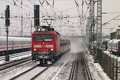 IMG_9249 (Lumixfan68) Tags: eisenbahn züge loks baureihe 143 elektroloks deutsche bahn db regio winter lew hennigsdorf