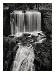 Ingersley Vale Falls in mono (busmender1964) Tags: waterfall peakdistrict monochromephotographymonomonochrome