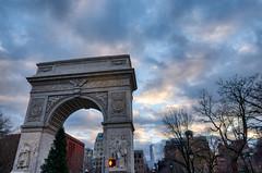 Web Washington Square Arch (mtschappat@verizon.net) Tags: washington square arch nyc sunset sony a6500 sigma 16mm