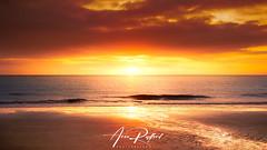 Lowestoft Beach Sunrise (Aron Radford Photography) Tags: blue lowestoft beach suffolk sand water sea surf wave sunrise dawn golden hour reflections pier claremont east anglia landscape