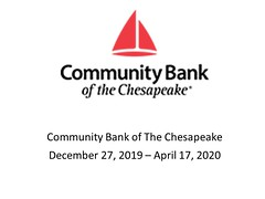 "Community Bank of the Chesapeake - December 27, 2019 to April 17, 2020 • <a style=""font-size:0.8em;"" href=""http://www.flickr.com/photos/124378531@N04/49451256571/"" target=""_blank"">View on Flickr</a>"