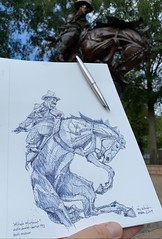 'Attitude Adjustment' - bronze by Austin Barton 1993 Booth Western Heritage Museum - Cartersville, Georgia (schunky_monkey) Tags: illustration journal sketchbook sketching sketch drawing draw fountainpen penandink ink pen wildwest cowboy rider horse westernart art western
