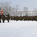 U.S., Japanese service members stand in formation during an opening ceremony for the start of exercise Northern Viper