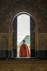 Hassan Tower Unfinished Mosque Complex Guard through a Window Rabat Morocco North Africa (Barbara Brundage) Tags: hassan tower unfinished mosque complex guard through window rabat morocco north africa