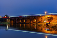 Fareham Viaduct (Sarah Marston) Tags: fareham hampshire viaduct train traffictrails lighttrails reflection bluehour sony ilce6300 january 2020