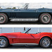 1965 and 1973 Chevrolet Corvette Stingrays