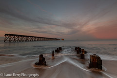 IN & OUT (lynneberry57) Tags: hartlepool steetley headland pier sunset clouds colour pink sea tide waves seascape landscape structure sky beach coast canon70d leefilters nature light water northeast