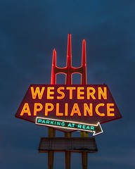 Western Appliance (Curt Bianchi) Tags: neon sign westernappliance appliance store sanjose california