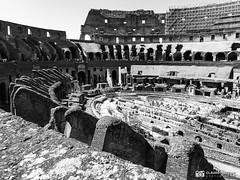 190706-030 Le Colisée (2019 Trip) (clamato39) Tags: olympus rome italie italy europe colisée patrimoine landmark ruines ruins old blackandwhite bw monochrome noiretblanc