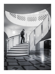 The Man at The Tate (Rich Walker Photography) Tags: london tate museum stairs blackandwhite blackwhite monochrome mono person building buildings canon england efs1585mmisusm eos eos80d