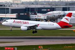 Austrian Airlines   Airbus A320-100   OE-LBK   London Heathrow (Dennis HKG) Tags: aircraft airplane airport plane planespotting staralliance canon 7d 100400 london heathrow egll lhr austrian austrianairlines aua os airbus a320 airbusa320 oelbk