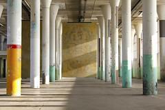 - Still Life - (Jacqueline ter Haar) Tags: zaanstad hethem raaaf cast brass steel beams crane trolleys stilllife sunny lines shapes light shadows explore