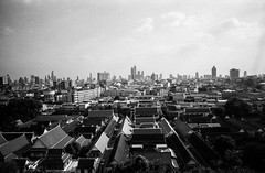 Bangkok high view (explore) (Thanathip Moolvong) Tags: epson v800 leica m4 kentmere 400 bw film hc110 developer