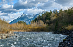 Chilliwack River, Mount MacFarlane, Mount Pierce (martincarlisle) Tags: chilliwackriver mountmacfarlane mountpierce britishcolumbia canada rivers trees mountains clouds sky rocks autumn fall sonycameras captureonepro20 tkactionsv7 fraservalley water