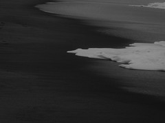 (Julie Rutherford1 ( off/on )) Tags: sea tide black white julie rutherford beach sand