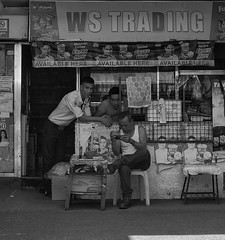 Trading (Beegee49) Tags: street people men trading security blackandwhite monochrome sony a6000 bacolod bw city philippines asia