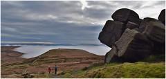 Passing Edale rocks. (A tramp in the hills) Tags: edalerocks kinderscout peakdistrict derbyshire pennineway darkpeak rocks walking