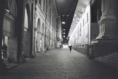 Bologna (goodfella2459) Tags: nikonf4 afnikkor50mmf14dlens ilfordsuperxp2400 35mm c41 blackandwhite film analog city bologna italy night buildings streets light bwfp