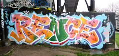 Graffiti in Amsterdam (wojofoto) Tags: amsterdam nederland netherland holland flevopark amsterdamsebrug hof halloffame legalwall graffiti streetart wojofoto wolfgangjosten rence