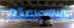 Graffiti in Amsterdam (wojofoto) Tags: amsterdam nederland netherland holland flevopark amsterdamsebrug hof halloffame legalwall graffiti streetart wojofoto wolfgangjosten rickone rick