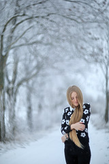 White winter (AdisX   Andrius Maciunas) Tags: girl longhair hair winter portrait cyclop 85 8515 85mm f15 m42 andrius mačiūnas maciunas adisx photoshoot photosession snow frost cold color face woman nature outdoor outside