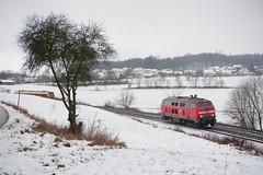 Als der Januar noch weiß war. (Korbinian Eckert) Tags: winter januar baureihe 218 br db deutsche bahn diesellok 415 outside
