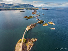 Atlantic Ocean Road (Norway) (Andrea Moscato) Tags: andreamoscato light norge europe day view north vivid vista norvegia nynorsk bokmål blue shadow red sea white art nature water yellow artist ombre luce panorama history rock landscape mare natural natura tourist historic trail fiord attraction fiordo naturale road street green island stones air overlook mavic drone dji quadcopter ocean bridge sky grass car clouds boat nuvole deep ponte oceano isola strada waves atlantic cielo