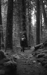 I'll follow you anywhere... (Sarah Rausch) Tags: canona1 ilfordhp5 pushed 1600 blackandwhite bw monochrome trail oregon pacificnorthwest staybrokeshootfilm ishootfilm filmisnotdead ilovegrain hiking pnw homedevelopedfilm