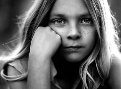 Kennedy ({jessica drossin}) Tags: jessicadrossin face portrait child girl freckles hair blackandwhite monochromatic eyes wwwjessicadrossincom