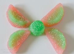 "DSC_0798-1      ~  ""MACRO MONDAYS"" ~ and ""THE ODD ONE"" ~ ""2/3/20"" ~ (Travlin/Cindy16) Tags: macromondays macro mondays theoddone odd one pink green rainbows gumdrop greengumdrop greenpinkrainbows sugar white 2320"