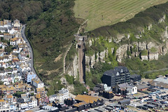 Britain's steepest funicular railway, opened 1902: East Hill Cliff Railway - Hastings aerial image (John D Fielding) Tags: hastings funicular railway sussex eastsussex cliff above aerial nikon d810 hires highresolution hirez highdefinition hidef britainfromtheair britainfromabove skyview aerialimage aerialphotography aerialimagesuk aerialview viewfromplane aerialengland britain johnfieldingaerialimages fullformat johnfieldingaerialimage johnfielding fromtheair fromthesky flyingover fullframe cidessus antenne hauterésolution hautedéfinition vueaérienne imageaérienne photographieaérienne drone vuedavion delair birdseyeview british english easthillcliff easthilllift rockanore