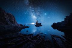 Voie lactée sur le Récif des Sirènes (Stéphane Sélo Photographies) Tags: alméria canon6dmarkii irix11mmf4 voielactée andalousie espagne lanscape milkyway paysage récifdessirènes seascape stars étoiles