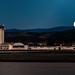 Full Moon Sets at the Santa Barbara Airport