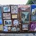 Fence full of frame paintings