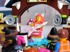 Josie but no Pussycats (back2s0ul) Tags: lego friends snow resort ice rink wizard oz emmet wyldstyle lucy movie minifigures minifigs dorothy scarecrow toto tinman lion