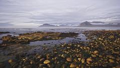 Kommetjie shore (timopfahl) Tags: southafrica kommetjie beach shore rocks ocean sea mountains falsebay cape peninsula sunset clouds