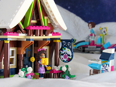 At the lodge (back2s0ul) Tags: lego friends snow resort chalet andrea minidoll