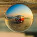 VW Bus reflected in Lensball
