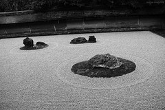 Close-up of the Rock Garden (karesansui, 枯山水, dry landscape) of Ryoanji Temple (龍安寺 or 竜安寺, Ryōanji), Kyoto, Japan (De Rode Olifant) Tags: japan kyoto marjansmeijsters rockgardenofryoanjitemple 龍安寺 ryōanji rockgarden ryoanjitemple karesansui meditation rocks ancientkyoto historicmonumentsofancientkyoto unescoworldheritage drylandscapegarden zenbuddhism zengarden zen 竜安寺 枯山水 drylandscape
