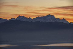 beyond the horizon (crazyhorse_mk) Tags: säntis alsp switzerland sonnenhof kressbron germany lackeconstance bodensee mountain summit massiv sky clouds sunset lake