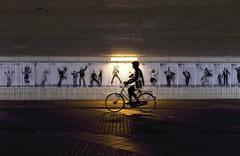 The Passing (*Chris van Dolleweerd*) Tags: street streetphotography urban bicycle fiets tunnel light chrisvandolleweerd movement