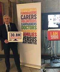 Supporting Arthritis parliamentary exhibition