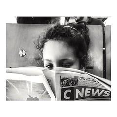 Serious reading. (streetspirit13) Tags: children candidportrait bnwphotographer bnwphotography bnw portrait subwaypeople subway capturestreet metropolitan bw bnwdemands streetphotographer street marseille
