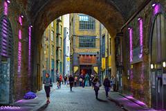 Under London Bridge (M Malinov) Tags: london england britain bridge europe island европа англия лондон столица град capital city street streetview light purple лилаво