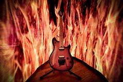 On Fire (Frank C. Grace (Trig Photography)) Tags: pixelstick light lightpainting d810 nikon evh evhgear fender wolfgang special guitar music fire guitarstand 6string flames longexposure
