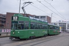 491 (200er Serie) Tags: tram drämmli bvb basler verkehrsbetriebe grün schienenfahrzeug schindler waggon pratteln cornichon