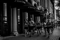 Early Morning Runners 1 (grexsys) Tags: runners atx fitcity austintexas congressworkout congress morningrun running people peoplewatching exercise nikon nikonphotogrpahy monochrome blackandwhite blackandwhitephotography blackwhite