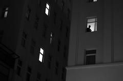 (::: M @ X :::) Tags: buildings edificios noche downtown microcentro silueta silhouette contraluz backlight window windows ventana ventanas
