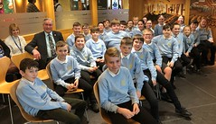 With Cockenzie primary school pupils at Holyrood